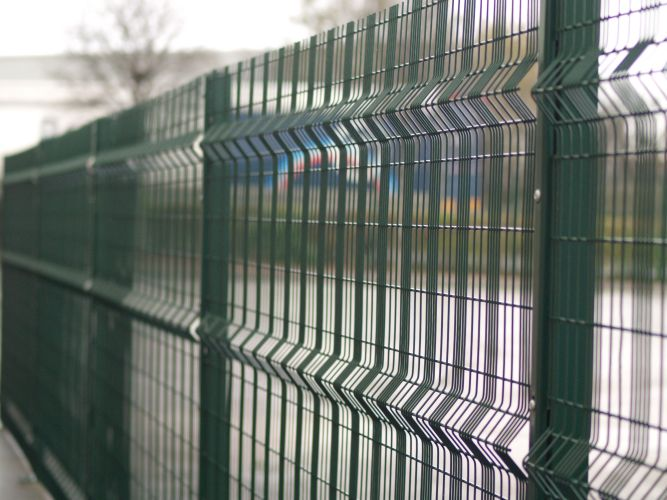 Metal Wire Fence : Mesh steel wire fencing bolton bury manchester uk